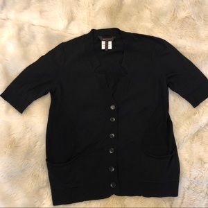 BCBGMAXAZRIA black short sleeve cardigan
